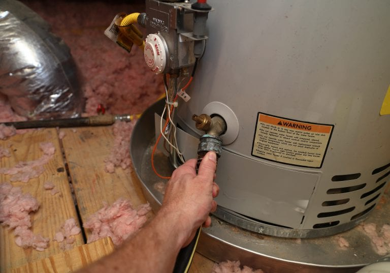 Water heater draining