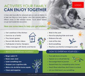 Family activities flyer
